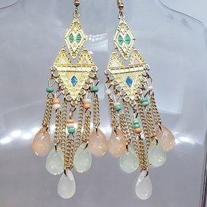 NEW Pastel Aztec Dangle Earrings summer jewelry